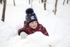 Het jonge geitje op de wintergang Royalty-vrije Stock Foto