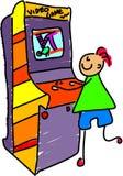 Het jonge geitje van de arcade royalty-vrije illustratie