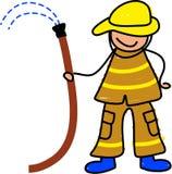 Het jonge geitje van de brandweerman Stock Fotografie