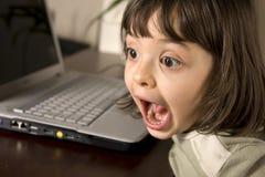 Het jonge geitje van de computer Stock Foto