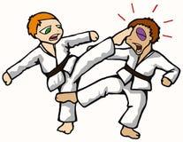 Het jonge geitje van de karate Royalty-vrije Stock Foto's