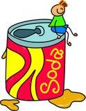 Het jonge geitje van de soda royalty-vrije illustratie