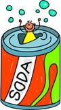 Het jonge geitje van de soda stock illustratie