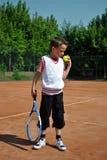 Het jonge geitje van het tennis stock fotografie