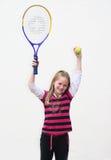Het jonge geitje van het tennis royalty-vrije stock foto's