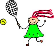 Het jonge geitje van het tennis Royalty-vrije Stock Afbeelding