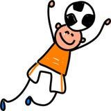 Het jonge geitje van het voetbal stock illustratie