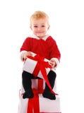Het jonge geitje van Kerstmis stock foto