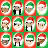 Het Jonge geitjegezichten van de Kerstmishoed vector illustratie