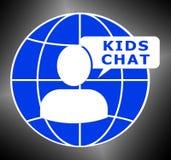 Het jonge geitjespraatje toont Kindboodschapper 3d Illustratie stock illustratie