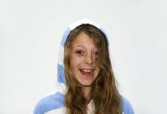 Het jonge Glimlachen van het Meisje Stock Afbeelding