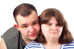 Het jonge Glimlachen van het Paar van de Liefde Stock Afbeeldingen