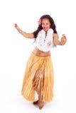 Het jonge huladanser dansen stock fotografie