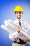 Het jonge ingenieur werken Stock Foto