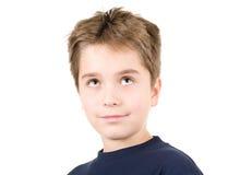 Het jonge jongen dromen Stock Afbeelding