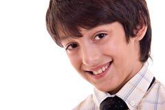 Het jonge jongen glimlachen Stock Afbeeldingen