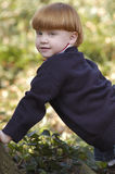Het jonge jongen kruipen Royalty-vrije Stock Foto