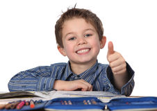 Het jonge jongen leren Stock Foto