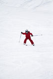 Het jonge jongen skiån Stock Fotografie