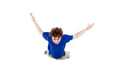 Het jonge jongen springen Royalty-vrije Stock Foto