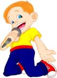 Het jonge jongen zingen Royalty-vrije Stock Afbeeldingen