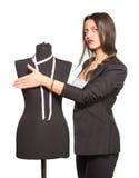 Het jonge kleermaker stellen met ledenpop Stock Afbeelding