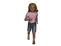 Het jonge Lopen van het Meisje Stock Afbeelding