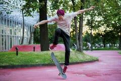 Het jonge mannelijke stedelijke concept van de subcultuur extreme sport stock afbeelding