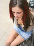 Het jonge meisje denken Royalty-vrije Stock Foto's