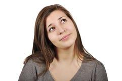 Het jonge meisje dromen Stock Foto