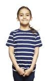 Het jonge meisje glimlachen royalty-vrije stock afbeeldingen