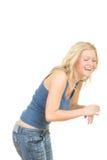 Het jonge meisje lachen Stock Foto's
