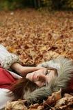 Het jonge meisje ontspannen   Royalty-vrije Stock Foto's