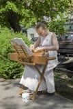 Het jonge meisje presteren Royalty-vrije Stock Afbeelding