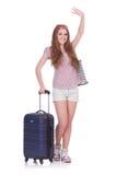 Het jonge meisje reizen Stock Fotografie