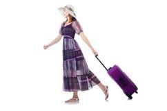 Het jonge meisje reizen Stock Afbeelding