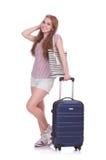 Het jonge meisje reizen Royalty-vrije Stock Fotografie