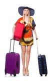 Het jonge meisje reizen stock foto's