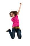 Het jonge meisje springen Royalty-vrije Stock Afbeeldingen