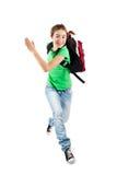 Het jonge meisje springen stock fotografie
