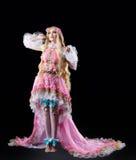 Het jonge meisje stellen in fee-verhaal cosplay kostuum Royalty-vrije Stock Fotografie