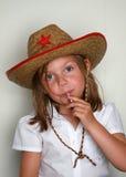 Het jonge meisje van het gezicht Stock Fotografie