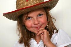 Het jonge meisje van het gezicht Stock Afbeelding