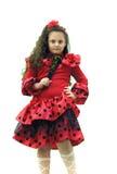 Het jonge meisje van het portret met ventilator Royalty-vrije Stock Foto's