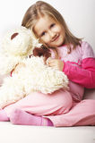 Het jonge meisje van Nice in roze Royalty-vrije Stock Afbeeldingen