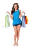 Het jonge meisje winkelen Royalty-vrije Stock Afbeeldingen
