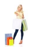 Het jonge meisje winkelen Stock Foto