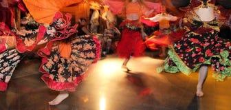 Het jonge meisjes dansen Royalty-vrije Stock Foto