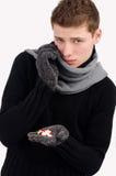 Zieke zieken, koude Stock Foto