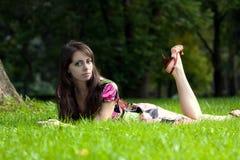 Het jonge mooie meisje stock foto